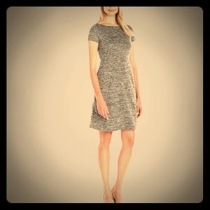 *NWT* Grey Marled fit and flare dress